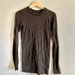 Athleta Remarkawool Crewneck top in Grey